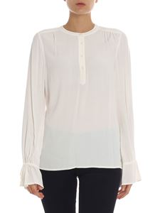Tommy Hilfiger - Blusa in viscosa color panna