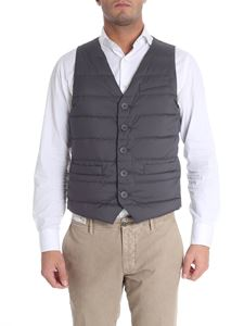 Herno - Quilted grey waistcoat