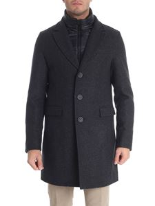 Herno - Padded melange dark grey coat