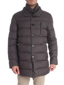 Fay - Dark gray quilted down jacket