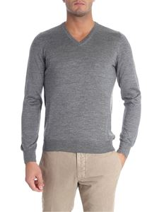 Tagliatore - Grey melange wool and silk pullover