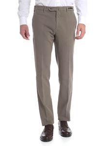 PT01 - Mud-colored cotton trousers