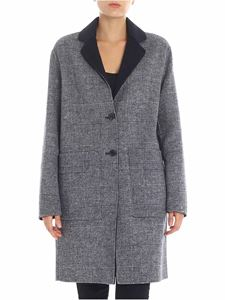 "Tommy Hilfiger - ""Alison"" blue and grey coat"