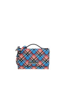 "Vivienne Westwood Anglomania - ""Shuka Tartan Iphone"" blue wallet"