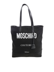 Moschino - Black fabric shopper with logo