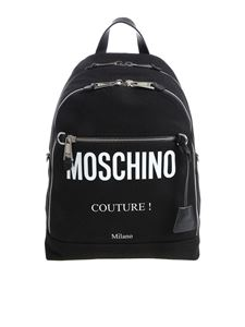 Moschino - Zaino logato in canvas nero