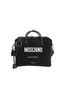 Moschino - Black fabric handbag with padlock