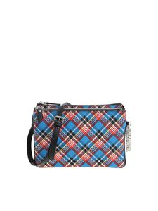 "Vivienne Westwood Anglomania - ""Shuka Tartan"" blue shoulder bag"