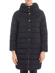 Herno - Reversible down jacket with cowl collar