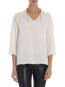 Fabiana Filippi - White blouse with micro beads