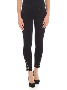 """7 For All Mankind - Black """"Skinny Crop"""" jeans"""