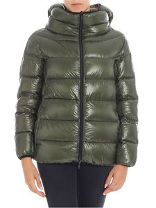 Herno - Reversible green and black down jacket