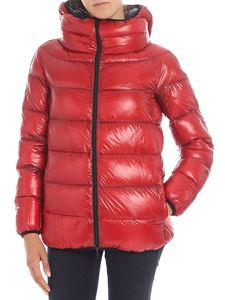 Herno - Red and blue reversible down jacket