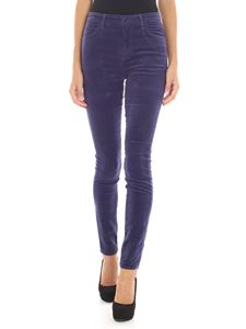"J Brand - ""Maria"" light blue velvet jeans"