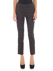 "Dondup - Pantalone ""Perfect"" antracite motivo check"