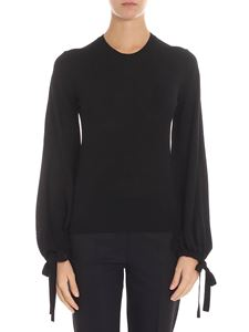Parosh - Black sweater with drawstring
