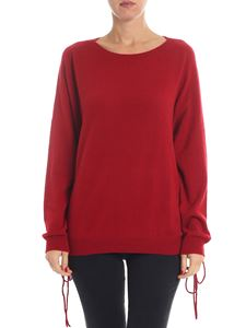 Parosh - Red cashmere pullover with side openings