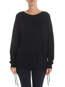 Parosh - Black cashmere pullover with side openings