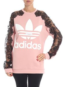 Stella McCartney - Pink sweatshirt with lace sleeves