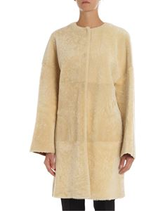 Parosh - Reversible cream and beige shearling coat
