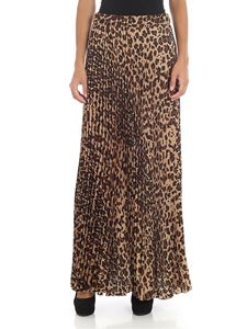 Parosh - Long pleated animalier skirt