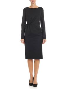 Parosh - Black sheath dress with bow