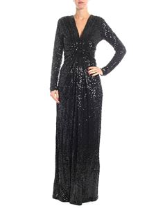 Parosh - Black long-sleeved sequins dress