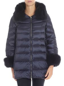 HETREGO' - Blue long down jacket