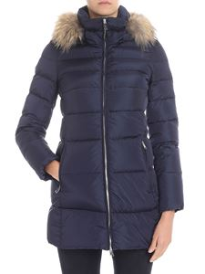 ADD - Blue quilted down jacket