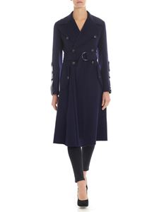 "Sportmax - ""Edro"" blue double-breasted coat"