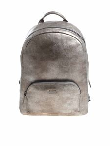 Karl Lagerfeld - Silver vintage effect backpack
