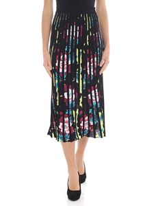 Kenzo - Black skirt with contrasting floral motif