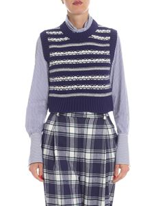 Ermanno Scervino - Indigo and white cachemire top