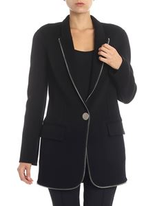 Alexander Wang - Cappotto nero con zip applicata