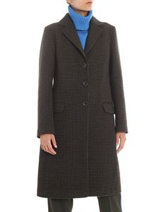 Etro - Green and black houndstooth coat