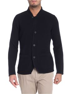 Paolo Pecora - Blue cardigan with patch pockets