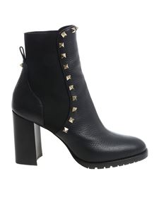 Valentino - Black ankle boots with studs