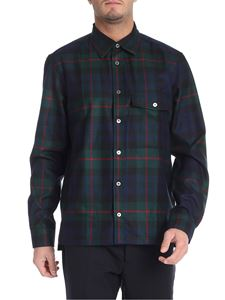 Paul Smith - Blue and green scottish fabric shirt