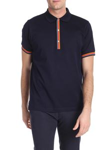 Paul Smith - Blue polo with striped details