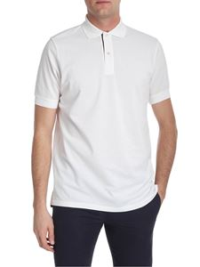 Paul Smith - White polo with striped detail
