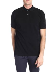 Paul Smith - Black polo with striped detail