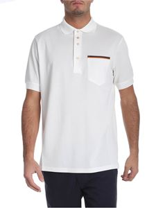 Paul Smith - White polo with multicolor detail