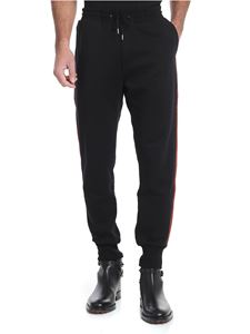 Paul Smith - Pantalone nero con bande laterali multicolor