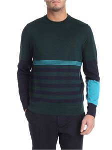 Paul Smith - Striped green and blue pullover