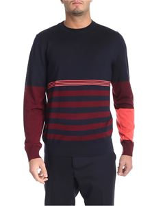 Paul Smith - Striped blue and burgundy pullover