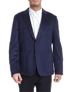Paul Smith - Giacca due bottoni in panno di cachemire blu