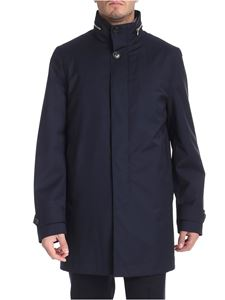 Paul Smith - Blue long jacket with removable hood