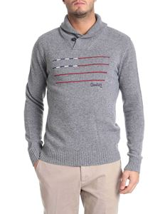 Woolrich - Grey embroidered pullover