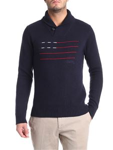 Woolrich - Blue embroidered pullover