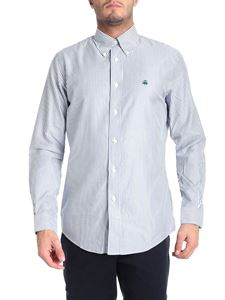 Brooks Brothers - Blue and green striped button-down shirt